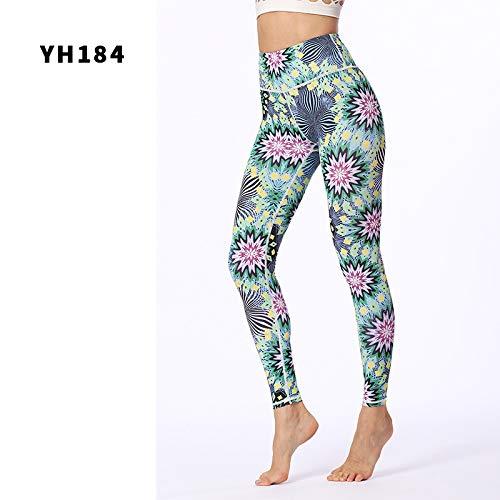 MAOYYMYJK Yoga-Hose Für Damen Yoga Hosen Weibliche Hohe Taille Hüfte Sporthosen Lässig Tanzdruck Yoga Hosen
