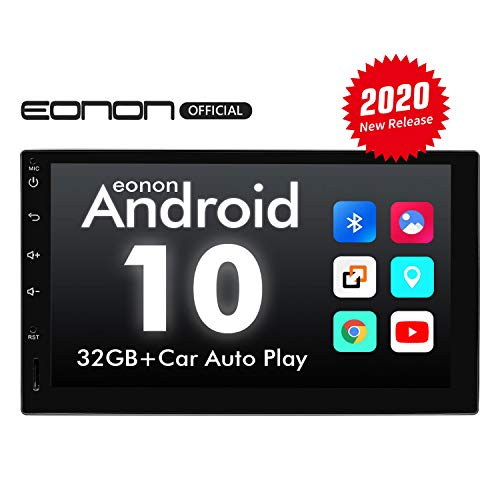 Double Din Car Stereo, Android 10 Android Head Unit with DSP, Eonon 7 Inch Car Stereo with Navigation Car Radio Support Apple Carplay/WiFi/Fast Boot/Backup Camera/OBDII(No CD/DVD) - GA2180A