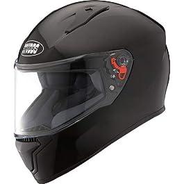 Studds Thunder Helmet with Mirror Visor (Black, L)