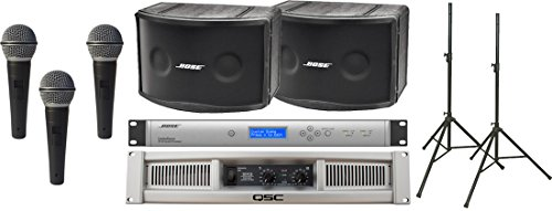 Sound Equipment Bose (Bose Panaray 802 Series IV Portable Sound System Package with QSC GX3 Power Amplifier and Ultimate Support Speaker Stands)