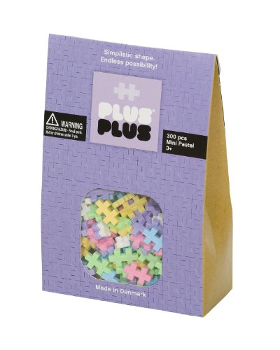 PLUS PLUS - Construction Building Toy, Open Play Set - 300 Piece - Pastel Color - Block Reserve