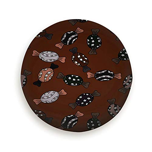 X-Large Spare Tire Cover Candy Brown Black Polyester Water Proof Dust-Proof Universal Spare Wheel Tire Cover Fit for Jeep,Trailer, Rv, SUV and Many Vehicle 15