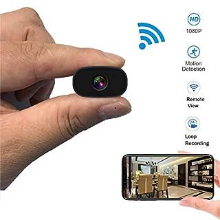 Mini Hidden Cameras PNZEO W3 Spy Cam Portable Wireless WiFi Remote View Camera Small Home Security Cameras Indoor Outdoor Video Record Smart Motion Detection