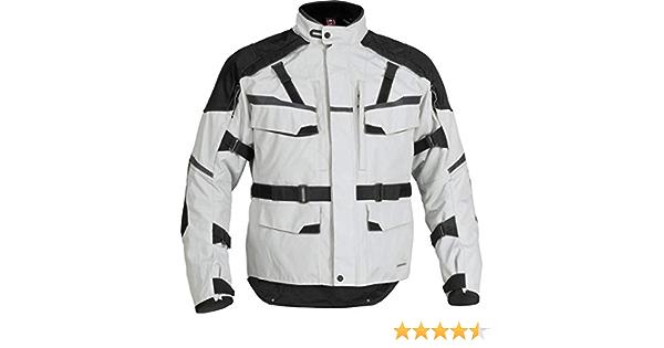 FirstGear Jaunt Mens Textile Motorcycle Jacket Hi-Vis