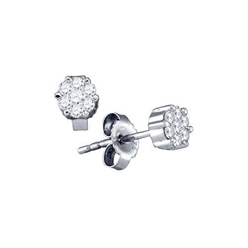 Tw Diamond Cluster Earrings - 6