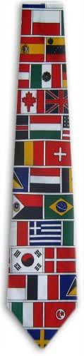 Mens American Flag World Flag NeckTies