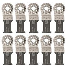 "Fein 63502157290  Bi-Metal Oscillating Blade (10 Pack), 1-3/16 x 2"""