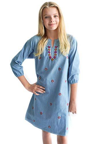 Smukke, Big Girls Beautiful Dresses (with Options), 7-16 (Denim, 16)