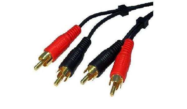 Doble entrada Rca - Conector de Audio estéreo Hi-Fi Cable 3 m: Amazon.es: Electrónica