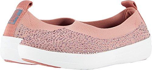 FitFlop Damen Uberknit Ballerina Walking Slip-On Dusky Pink / Soft Grey