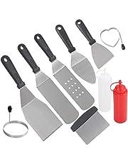 POLIGO10 Outils de Gril pour Barbecue de qualité Professionnelle, Chef de Camp et Autres Grils à Fond Plat, Grils, casseroles, Cuisson dans Le Jardin, Camping et Talonnage.