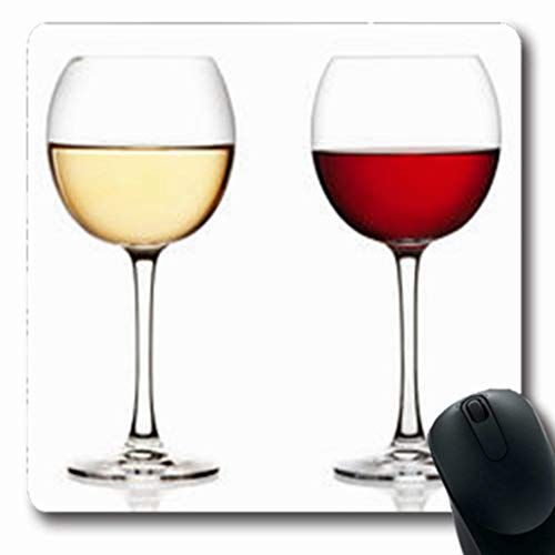 Pandarllin Mousepads Wineglass Glass Red White Riesling Wine On Food Drink Merlot Oblong Shape 7.9 x 9.5 Inches Oblong Gaming Mouse Pad Non-Slip Rubber Mat