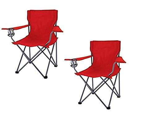 Ozark Trail Folding Chair Red (pack Of 2)