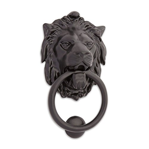 Casa Hardware Large Iron Lion Door Knocker - Black Powder Coat