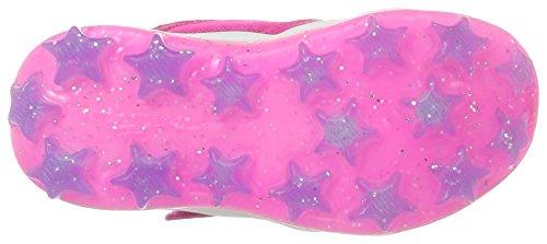 Skechers Kids Girls' Skech-Air Stardust Running Shoe, Periwinkle Neon Pink, 10 M US Toddler