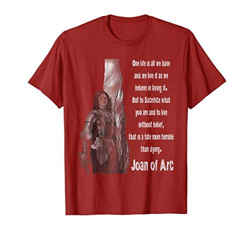 (Joan of Arc Catholic T-Shirt Saints Quotes)