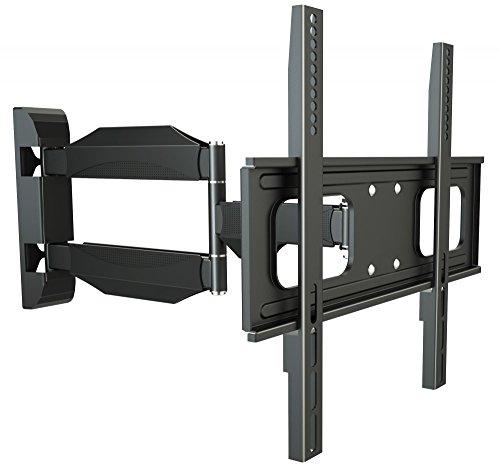 RICOO TV Wand-Halter Wand-Halterung Schwenkbar Neigbar S2644 Curved LED LCD OLED 4K Fernseh-Halterung Flach für Flachbild-Fernseher Bildschirm Schwenk-Arm Wohnwand Moebel VESA   200   400   mm