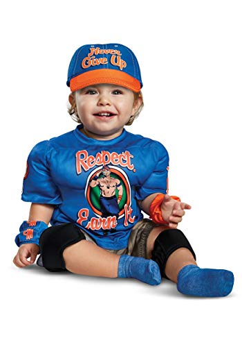 Disguise John Cena Toddler Muscle Child Costume, Blue, Medium/(3T-4T) -