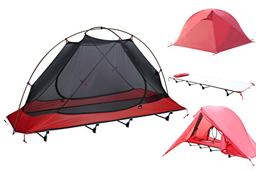 DESERT WALKER Ultralight Camping Tent Cot Off Ground Tent with Carrying Bag for Camping, Hiking, Adventure Trip ()