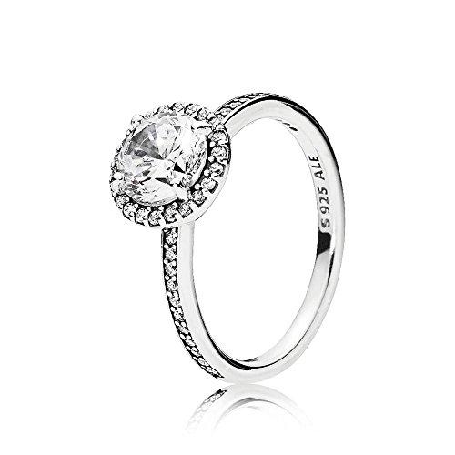 PANDORA Classic Elegance Ring, Clear CZ 196250CZ-54 EU 7 US