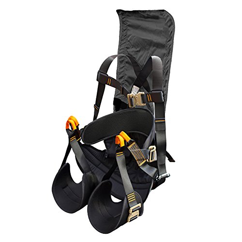 Fusion Climb Roar Deluxe Full Body Zipline Hammock Harness with Head Support