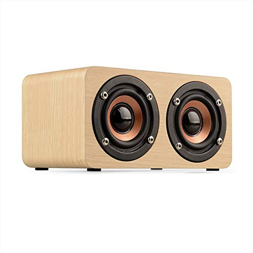 TOPROAD Wooden Wireless Bluetooth Speaker Portable HiFi Dual Speakers Shock Bass caixa de som Soundbar for Mobile PhonesChinaYellow Wood Speaker