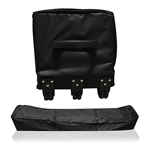 Long Roller Bag for Carport Canopy Impact Canopies Wheeled Storage Bag with Handles for Portable Garage, Black (Port Roller)