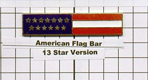 Police Officer Firefighter USA US American Flag Unifom Medal Pin Bar GOLD -