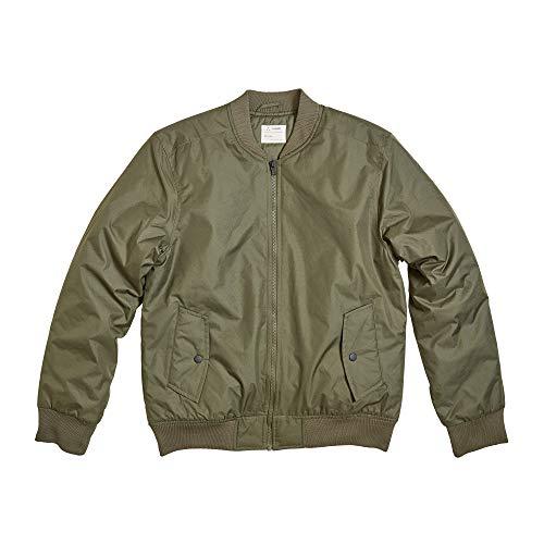 Zak Brand Bomber Jacket Men Military & Flight Style Casual Lightweight Softshell (Olive, L)