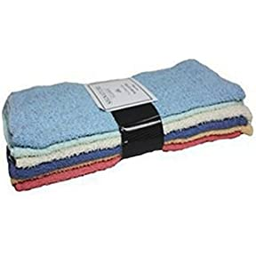 J & M Home Fashions 7414 11 x 11 in. Rainbow 100 Percentage Cotton Wash Cloths - 12 Pack, Pack Of 3