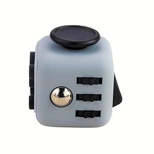 Fidget Toys Cubes Relieves Stress - 11 colours Anxiety Attention Fidgets Toy cube for work, home, class, adhd, autism Gray
