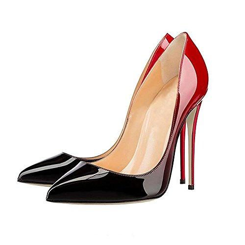 Schuhe Hochzeit 6 12 Pumps Escarpins Damen High Stilettos Party 7 Spitz Urtjsdg Fashion Heels Prom Sexy 10cm 12cm Größe K1JTlc3F