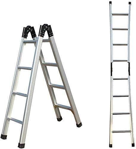 B-fengliu Escalera de Aluminio Grueso Inicio Escalera Plegable, telescópica 1,5M 3M despliegue Individual Escalera, Multi-función de Escalera Cocina Oficina al Aire Libre: Amazon.es: Hogar
