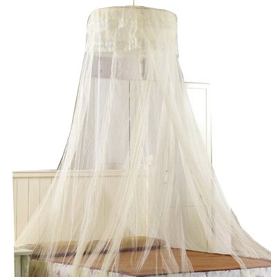 SHAREWIN Circular Hanging Round Lace Bed Canopy Netting Bedroom Decorative Dome Mosquito Net