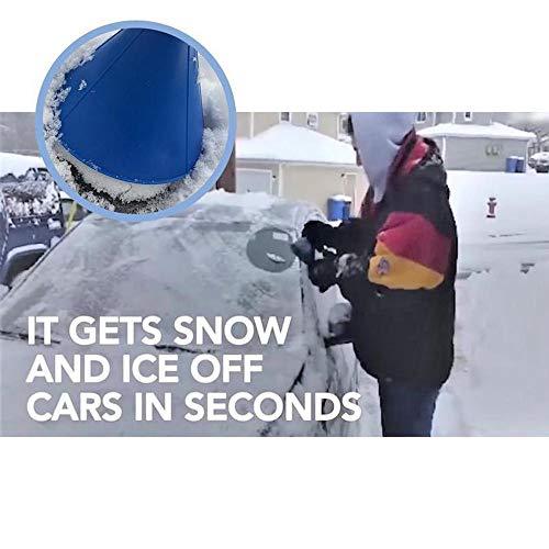 (Sinwo Ice Scraper,Scrape A Round Magic Cone-Shaped Windshield Ice Scraper Snow Shovel Tool for Car Windshield and Window (Blue))