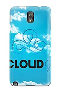 Hot 8227352K24847475 Slim Fit Tpu Protector Shock Absorbent Bumper Simple Blue Logo For Cloud 9 Team (league Of Legends) Case For Galaxy Note 3