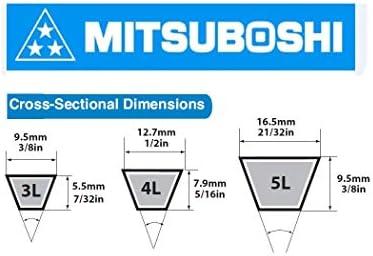 7//32 Height 3//8 Width Rubber 3//8 Width 7//32 Height 56/'/' Length MBL 3L560 1560 56 Length Fractional Horsepower V-Belt 3L Section