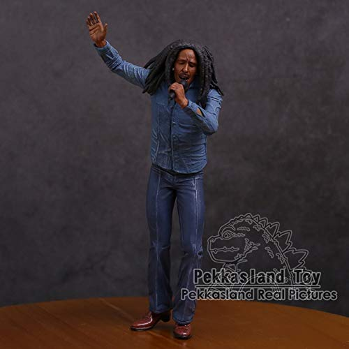Marley Model - Osaro Shop Bob Marley Music Legends Jamaicas Singer & Microphone Action Figure Collectible Model Toy 18cm 1 PCs