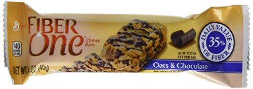 Fiber One Chewy Bars, Oats/Chocolate, 48 Count (One Fiber Oats)