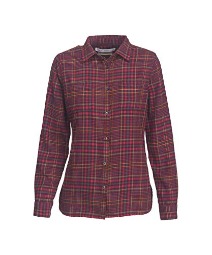(Woolrich Women's The Pemberton Flannel Shirt, Magenta,)