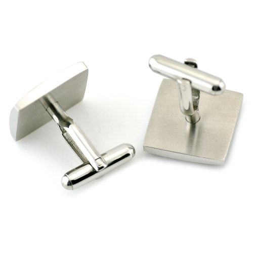 PenSee Unique Stainless Steel & Rosewood Floral Cufflinks for Men with Gift Box