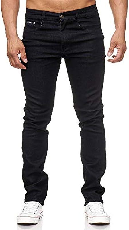SIX Jeans męskie dżinsy Texas Contrast, duże rozmiary, proste jeansy męskie: Odzież