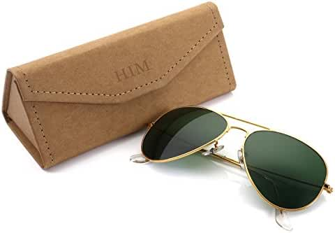 Aviator Sunglasses for Men Women,Flash Mirror Lens UV400 Sunglasses Eyewear with Sun Glasses Case