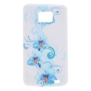 MOFY-Flor elegante Caso Patr—n suave para Samsung I9100 Galaxy S2
