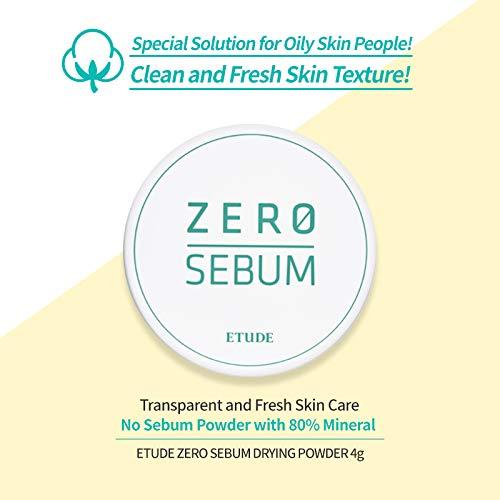 ETUDE HOUSE Zero Sebum Drying Powder - Oil Control No Sebum Powder with 80% Mineral, Makes Skin Downy 2