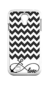 Cool Painting Chevron pattern Infinity Anchor love Snap-on Hard Back Case Cover Shell for Samsung GALAXY S4 I9500 I9502 I9508 I959 -715