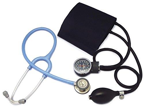 [セット、ネームタグ付]リットマン聴診器 クラシック3(セイルブルー5630)+アネロイド血圧計(ダークブルー) B01HFZGPV0 セイルブルー 5630 セイルブルー 5630