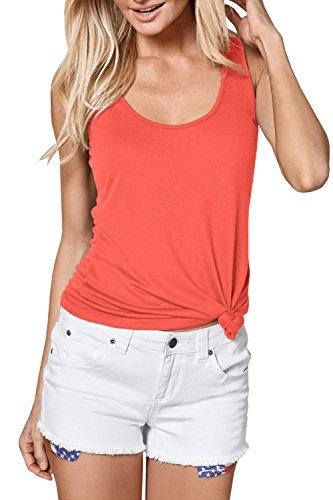 JOYCHEER Womens Tank Tops Summer Workout Basic Cute Loose Fit Sleeveless Tee (Cotton Scoop Neckline Top)