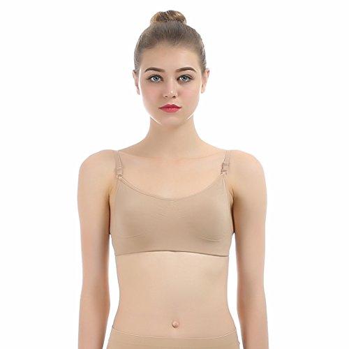 iMucci Professional Backless Beige Ballet Dance Clear Back Women Bra Adjustable Shoulder Strap Freebra Seamless Bras Underwear Intimates