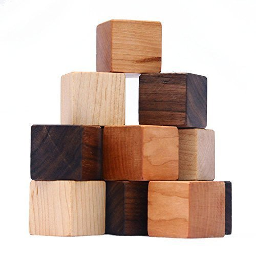 Natural Wood Blocks - Set of 12